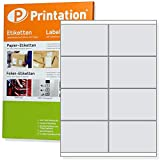 Universal Etiketten 800 Stück 105 x 70 mm selbstklebend weiß bedruckbar - 100 A4 Bogen à 2x4 105x70 Labels - 3426 4426 LA162
