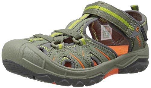 Merrell Hydro Hiker, Sandales mixte enfant Multicolore - Mehrfarbig (OLIVE/ORANGE)