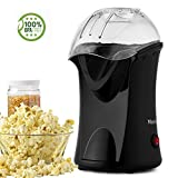 Meykey Professionell Popcornmaschine, 1200W Heißluft Popcorn Maker, Öl ist nicht notwendig, Weites-Kaliber-Design mit Messbecher und abnehmbarem Deckel, Schwarz