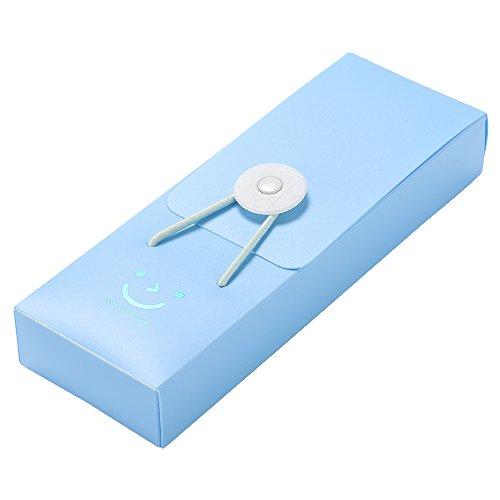 TRIXES Astuccio blu in plastica per penne e matite, custodia per cancelleria.