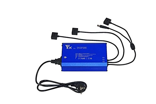 DJI Inspire 1 Ladegerät [UK Stock], Smart Multi Akku Rapid Balance Ladegerät für 3 Akkus parallel, Fernbedienung Controller-Ladegerät Ladekabel für DJI Inspire 1 Akku und Fernbedienung Controller Transmitter