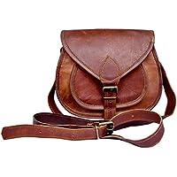 7f76e597a473b Sankalp Leather auténtico vintage Piel bolso de bandolera marrón para  mujeres