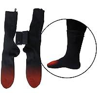 Calcetines térmicos invierno calentadores de pies calcetines térmicos doble capas algodón funciona con pilas calentamiento calcetines