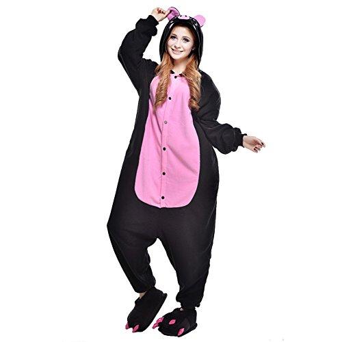 Imagen de freefisher pijama ropa de dormir costume disfraz de animal cosplay cartoon franela hombre mujer cerdo negro xl