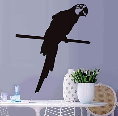 Pbldb 53X44 Cm Clever Papagei Haustier Vogel Tier Wandaufkleber Für Wohnzimmer Wohnkultur Vinyl Kunst Decals Schlafzimmer Wanddekoration Für Haus