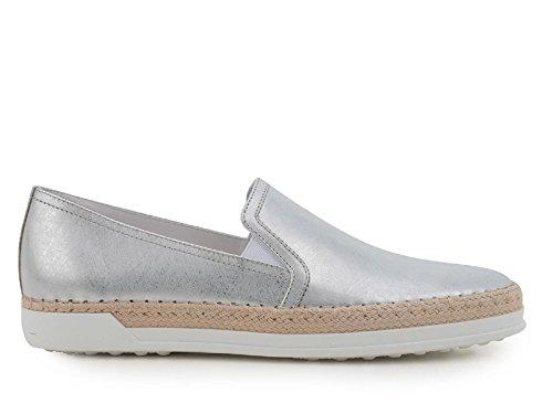 Sneakers slip-on Tod's donna pelle laminata argento - Codice modello: XXW0TV0J970GRSB200 Argento