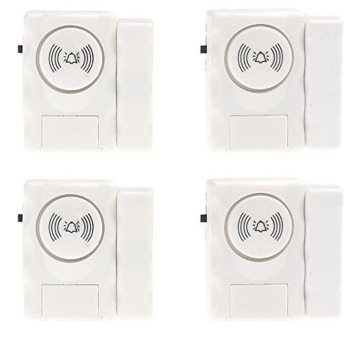MaxCrest (TM) detector de entrada sistema de alerta de alarma para puerta ventana Smart Home 4piezas Alarme sirena inalámbrica seguridad con sensor magnético
