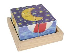Eichhorn 100004942 - Puzzle de Cubos de Madera (Simba Dickie)