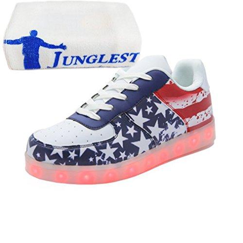 [+Piccolo asciugamano]Luci LED colorati bagliore e ricarica scarpe dargento nuovo scarpe casual USB maschio luminoso e di coppia scarpe femmin c31