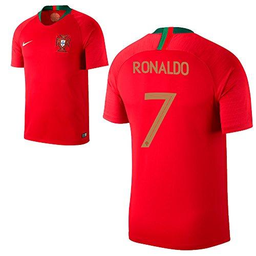 Fan sport24Portugal Stade Home Coupe du Monde de Football 2018la Russie Maillot Domicile Ronaldo 7Homme XXL Rot