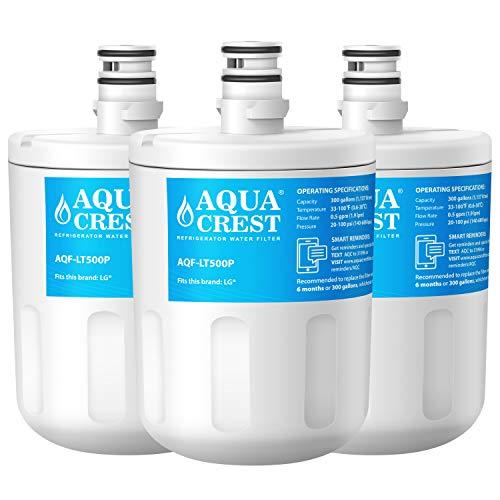 AQUACREST LT500P Filtros de agua para frigorífico, Compatible con LG LT500P, WSL-1,...