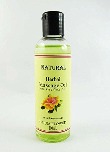Huile de massage Opium Fleur de fines herbes à l'huile essentielle Pour 100ml Full Body