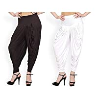 2 in 1 Pack-Patiala/Dhoti Salwar Pant for women-Soft & Stretchable