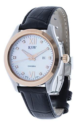RSW RSW6240 - Orologio da donna analogico al quarzo, in pelle