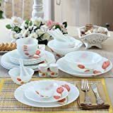 #9: LAOPALA SCARLET DUET DINNER SET 33 PCS