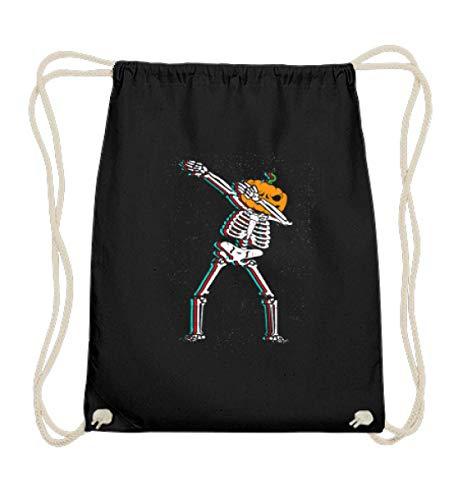 EBENBLATT Pumpkin Dab Move Dabbing Skelett Skeleton Tanzen Dance Halloween Trend cool geil Geschenk - Baumwoll Gymsac