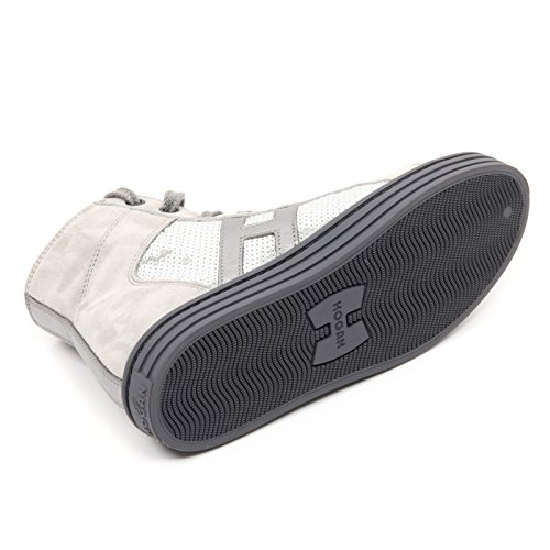 B8296 sneaker bimba HOGAN REBEL R141 scarpa grigio paillettes shoe kid Grigio