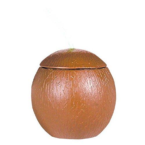 amscan International Gobelet avec Paille en Forme de Noix de Coco