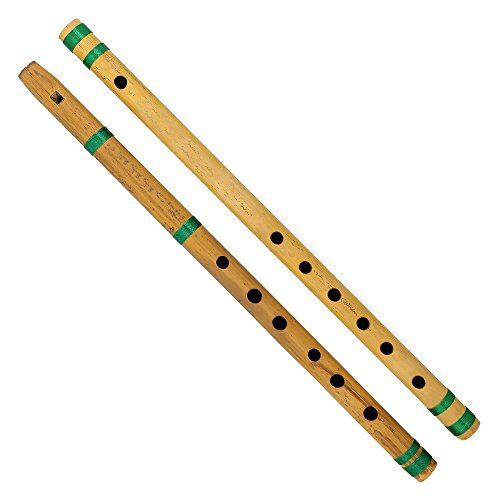Indische Bambus Flöte, Bansuri, Satz 2, Kernspalte & quer, für Kids