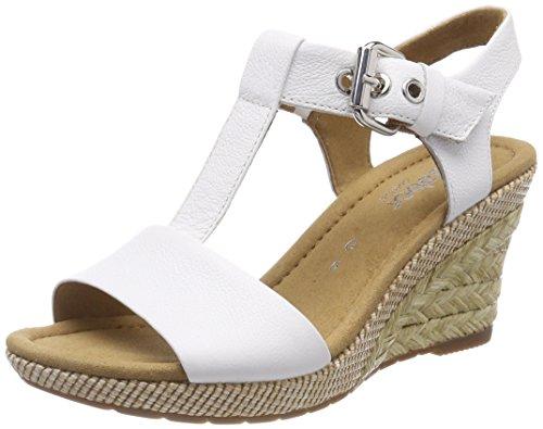 Gabor Shoes Damen Comfort Sport Riemchensandalen, Weiss Bast, 37 EU -