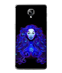 PrintVisa Designer Back Case Cover for OnePlus 3 :: OnePlus Three :: One Plus 3 (Flasy Blue Design Of Lady )