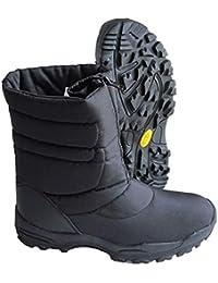 Fosco Botas De Nieve De Invierno Negro (UK Size 1 - Euro 35)
