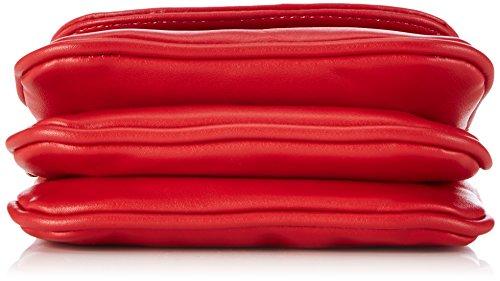 Lady Edelweiss Trachtentasche 30962-HI-S Damen Umhängetaschen 16x15x7 cm (B x H x T) Rot (Rot)