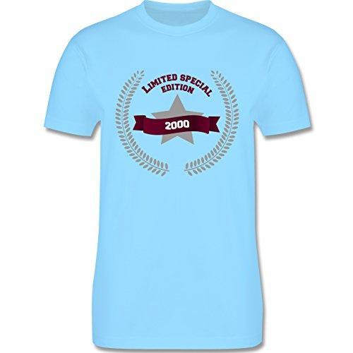 Geburtstag - 2000 limited special edition - Herren Premium T-Shirt Hellblau