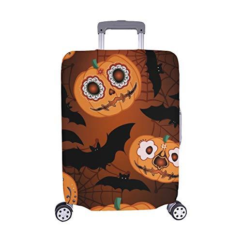 ((Nur abdecken) Halloween-Kürbis-Nacht-Spandex-Staubschutz Trolley Protector case Reise-Gepäck-Schutz-Koffer-Abdeckung 28,5 X 20,5 Zoll)