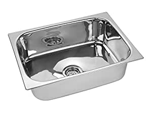 jindal kitchen sink stainless steel sink size 16 x 18 x 8 inches 204 grade steel - Kitchen Sink Sizes