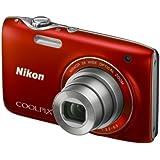 """Nikon Coolpix S3100 Appareil photo numérique compact 14 Mpix Ecran 2,7"""" Zoom optique 5x Rouge"""
