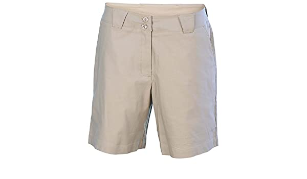 3bf4b7e49927 Buy NIKE Women s Coaches Flat Front Chino Golf Shorts-Beige-Size 18 Online  at Low Prices in India - Amazon.in