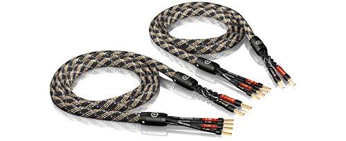 ViaBlue SC-4 Silver-Series Bi-Wire Lautsprecherkabel | 1,5 m | vercrimpt/ohne Stecker ( 1 Paar ) (Lautsprecherkabel Bi-wire)