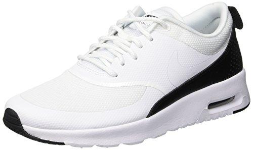 NIKE Damen Sneaker Air Max Thea Laufschuhe, Weiß White/Black 001, 39 EU