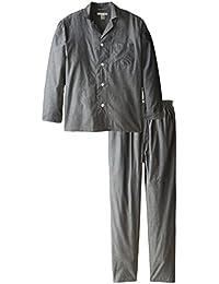 Geoffrey Beene Men's Big-Tall Broadcloth Pajama Set