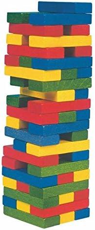 Woodyland Tonny Tower ColouRouge  Wooden Bricks (55-Piece)   Moelleux Et Léger