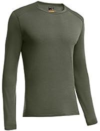 Icebreaker Shirt langarm Oasis Long Sleeve Crewe - Top interior térmico para hombre, color verde, talla XL
