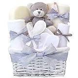 Panier cadeau unisexe pour nouveau-né - Pour garçon et fille - Gris - Inhabituel - Cadeaux de douche pour maman - Alternative unique - Pour nouveau-nés, garçons, filles - Cadeaux de congés de maternité