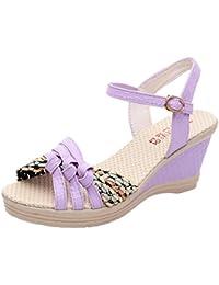 ?? Sommer bunt band Gewebte Sandalette Amlaiworld damen Casual Keile Schuhe elegant outdoor Schuhe Frauen Stilvoll...