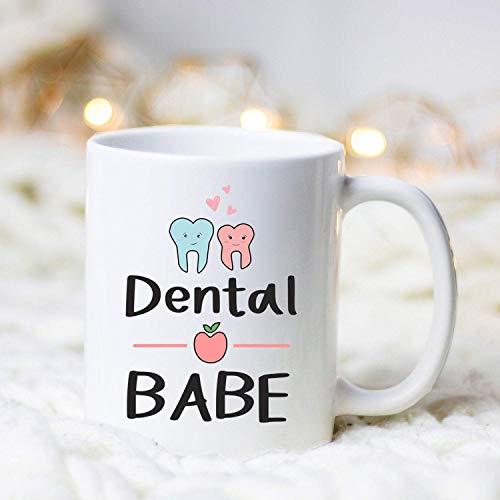 Dental Babe/Dentist Mug/Dentist Gift/Gift for Dentist/Dentist Graduation/Dental Assistant/Dental Hygienist/Dental Student Gift