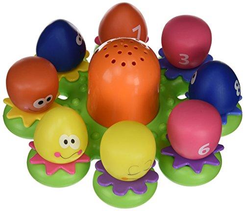 """TOMY Wasserspiel für Kinder """"Okto Plantschis"""" mehrfarbig - hochwertiges Kleinkindspielzeug - Spielzeug für die Badewanne - ab 12 Monate"""