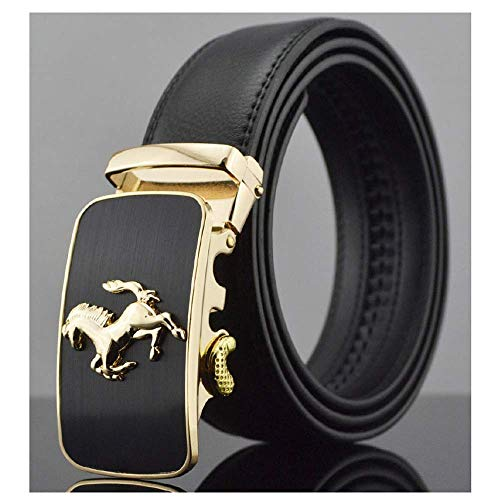 aoliaoyudonggha Mens Genuine Leather Belts Luxury Ceinture Homme Luxe Marque Automatic