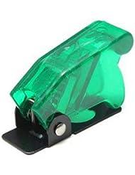 Wooya Interruptor Arranque Impermeable Plástica De Seguridad Tapa Flip Tapa Verde