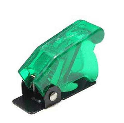 Wooya Kippschalter Wasserdicht Boot Kunststoff-Sicherheits Klappdeckel Cap Multi-Color-Grün