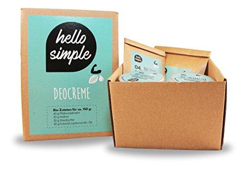 hello simple - DIY Deocreme/Creme Deodorant zum Selbermachen (150 g, 2 Stück), Naturkosmetik ohne Aluminium, vegan, bio, plastikfrei (Limette-Zypresse) - 2