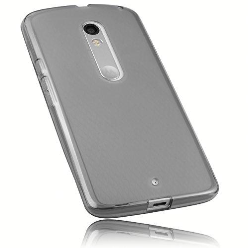 mumbi Schutzhülle Motorola Moto X Play Hülle transparent schwarz