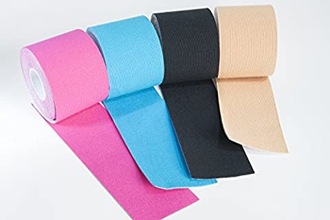 Kinesiology Tape 5m x 5cm muscle fitness sport tape for support pain injuries rehabilitation ankle knee elbow back lower back shoulder wrist water resistant flexible elastic