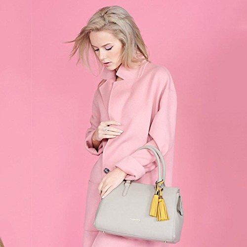 Zohara Grab Handle Bag - Wren Stone