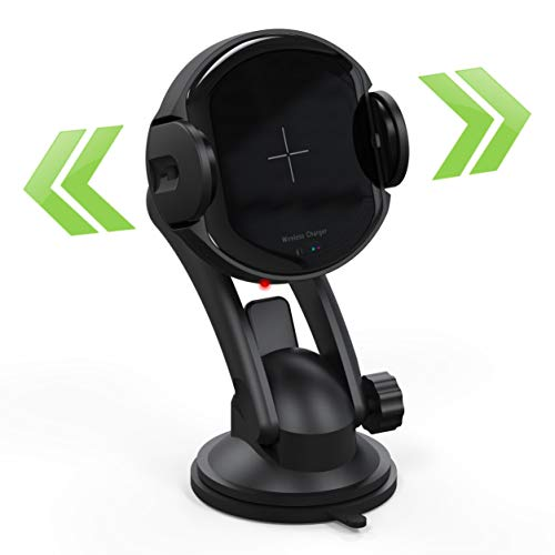 Noziroh Power Originale Caricabatteria Caricatore Auto Wireless Automatico Chiusura Automatica Ricarica Rapida 10W 15W Per Samsung iPhone Huawei Xiaomi Honor Qi Standard Bocchette Aria Braccio Ventos