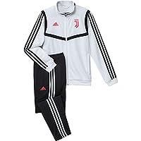 adidas Juve PES Suit Y, Tuta Unisex Bambini, Bianco/Nero, 140